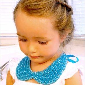 Tasha blue beaded necklace collar